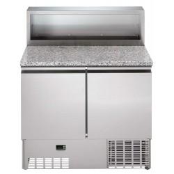 Хладилна маса 250 л, с мраморен плот