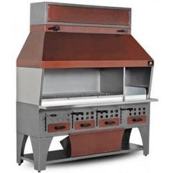 Скара на дървени въглища, 2150 мм
