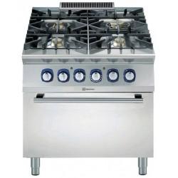 Газова печка 4 горелки + ел. фурна Electrolux